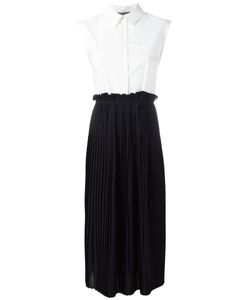 Twin-Set | Pleated Shirt Top Dress Womens Size 44 Cotton/Spandex/Elastane/Polyester