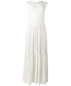 P.A.R.O.S.H. | Long Pleated Dress Womens Size Medium Silk