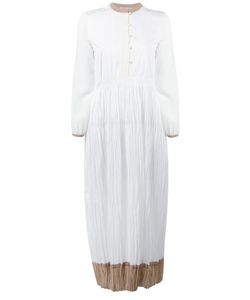 Agnona | Gathe Bicolour Dress Womens Size 44 Cotton/Silk/Viscose/Polyester