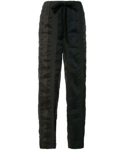 Uma Wang | Striped Cropped Trousers Mens Size Small Linen/Flax/Polyester