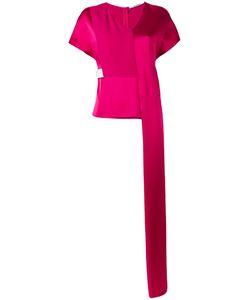 Chalayan | Stepped Tunic Blouse Womens Size 44 Viscose/Acrylic