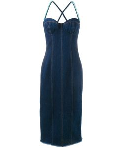 Natasha Zinko   Faux Pearl Embellished Dress Womens Size 44 Cotton/Ceramic