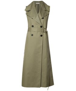 Tome | Sleeveless Belted Trench Womens Size Xs Cotton
