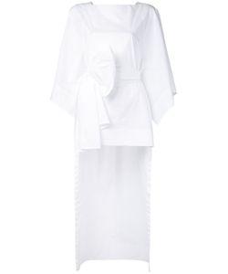 Demoo Parkchoonmoo | Deep Slit Dress Womens Size 36 Cotton/Polyurethane
