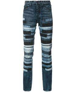 Prps | Striped Slim-Fit Jeans Mens Size 34 Cotton