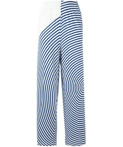 Mm6 Maison Margiela | Wide Leg Striped Trousers Womens Size Small