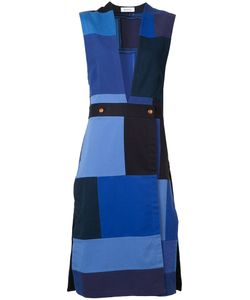 Rodebjer   Patchwork Sleeveless Midi Dress Womens Size Small Recycled Cotton
