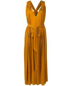 Barbara Bui | Mustard Grecian Dress Womens Lyocell
