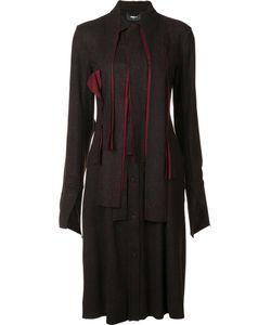 Yang Li | Knee Length Shirt Dress Womens Size 42 Nylon/Viscose