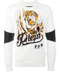 Philipp Plein | Blood Tiger Sweatshirt Mens Size Medium Cotton/Polyurethane/Polyester