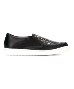 Thakoon Addition | Warwick 5 Slip-On Sneakers Womens Size 38 Leather/Metal