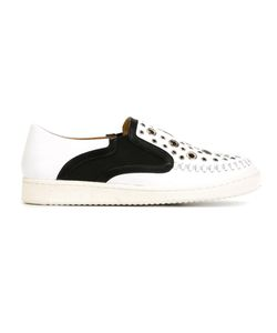 Thakoon Addition | Warwick 5 Slip-On Sneakers Womens Size 40 Leather/Metal