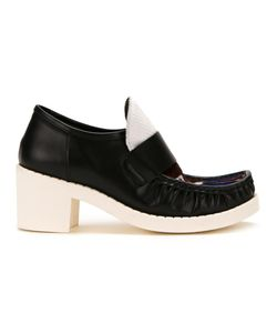 Mihara Yasuhiro   Miharayasuhiro Union Jack Detail Loafers Womens Size 38 Leather
