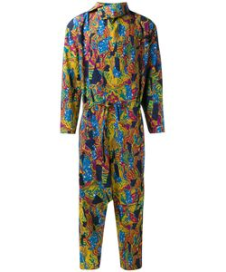 Issey Miyake   Patterned Jumpsuit Mens Size 3 Cotton