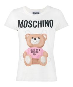 Moschino   Teddy Logo T-Shirt Womens Size 40 Cotton