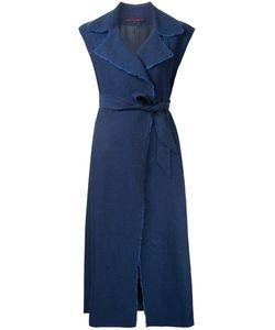 Martin Grant | Raw Edge Wrap Dress Womens Size 40 Linen/Flax