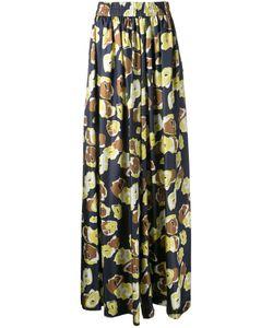 Martin Grant | Print Palazzo Pants Womens Size 38 Silk