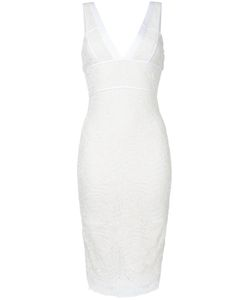 Victoria Beckham | Lace Fitted Dress Womens Size 8 Silk/Wool/Polyimide