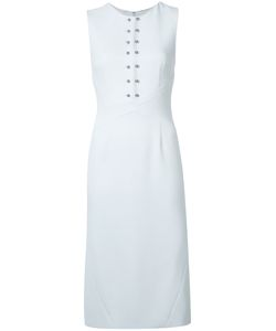 Sally Lapointe | Fitted Stud Dress Womens Size 6 Silk/Spandex/Elastane/Polyester/Nylon