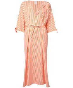 Maison Rabih Kayrouz   Striped Midi Dress Womens Size 38 Cotton