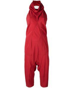 Rick Owens | Cowl Neck Jumpsuit Womens Size 40 Silk/Acetate
