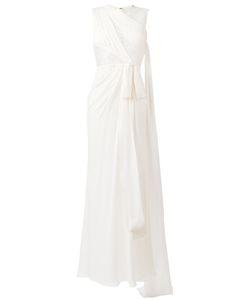 Elie Saab | Lace Trim Long Dress Womens Size 36 Silk/Nylon/Polyamide
