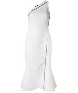 David Koma | One Shoulder Dress Womens Size 12 Acrylic/Spandex/Elastane/Viscose/Lyocell