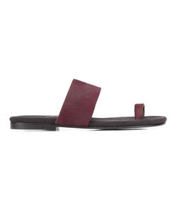 Newbark | Roma V Sandals Womens Size 6 Pony Fur/Leather