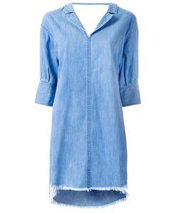 Mihara Yasuhiro   Miharayasuhiro Raw Hem Denim Dress Womens Size 38 Cotton