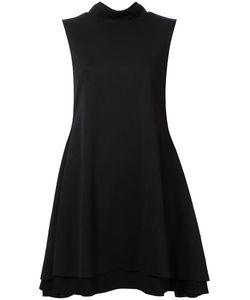 Robert Wun | Flared High Collar Dress Womens Size 12 Polyester