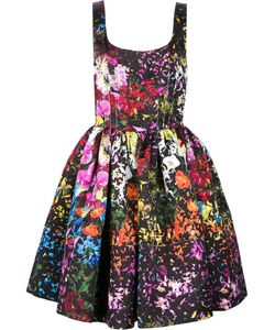 Jonathan Cohen | Floral Print Flared Dress Womens Size 4 Silk/Polyester