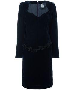 Emanuel Ungaro Vintage | Ruffled Trim Velvet Dress Womens Size 44
