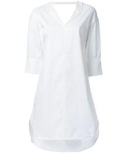 Mihara Yasuhiro   Miharayasuhiro Scoop Back Shirt Dress Womens Size 40 Cotton/Polyurethane/Lyocell
