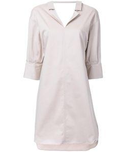 Mihara Yasuhiro   Miharayasuhiro Scoop Back Shirt Dress Womens Size 38 Cotton/Polyurethane/Lyocell
