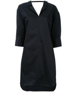 Mihara Yasuhiro   Miharayasuhiro Scoop Back Shirt Dress Womens Size 36 Cotton/Polyurethane/Lyocell