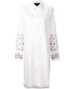 Sharon Wauchob | Asymmetric Embroidered Shirt Dress Womens Size 40 Cotton