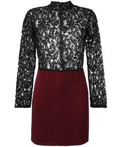 Gaelle Bonheur   Lace Panel Dress Womens Size 0 Acrylic/Polyester/Virgin Wool