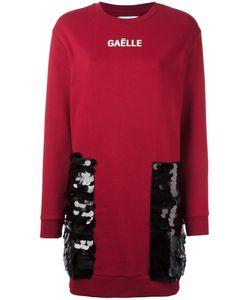 Gaelle Bonheur   Sequin Patch Sweatshirt Dress Womens Size 0 Cotton