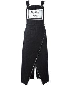 Gaelle Bonheur   Denim Dungaree Dress Womens Size 26 Cotton/Spandex/Elastane