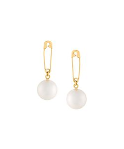 Wouters & Hendrix | Safety Pin Pearl Earrings Womens