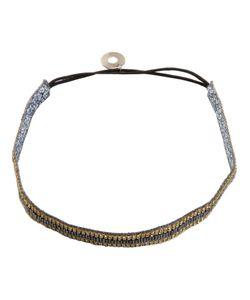 Serpui | Embellished Headband Womens Leather/Crystal