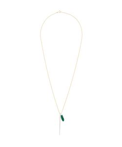 Wouters & Hendrix | Shard And Green Agate Necklace Womens