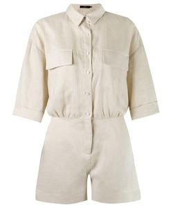 Andrea Marques | Linen Playsuit Womens Size 40 Linen/Flax