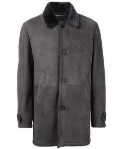 Desa Collection | Suede Coat Mens Size 50 Sheep Skin/Shearling