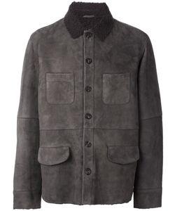 Desa Collection | Multi-Pocket Leather Jacket Mens Size 54 Sheep Skin/Shearling