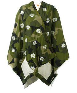 Ermanno Gallamini | Embroidered Flower Cape Womens Cotton/Polyester/Viscose