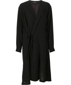 Y's   String Detail Oversized Coat Womens Size 1 Cupro/Wool