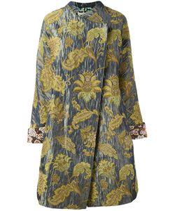 Ermanno Gallamini | Jacquard Oversized Coat Womens Size Small Silk/Cotton/Polyester/Viscose