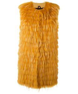 Numerootto | Sleeveless Coat Womens Size 42 Racoon Fur