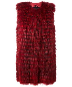 Numerootto | Sleeveless Coat Womens Size 44 Racoon Fur